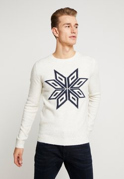 TOM TAILOR - COSY NEP SWEATER - Pullover - offwhite