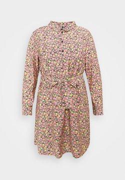 Vero Moda Curve - VMELLIE SHORT DRESS - Skjortekjole - geranium pink