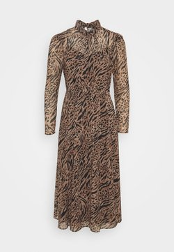 Forever New - LONG SLEEVE MIDI DRESS - Korte jurk - brown