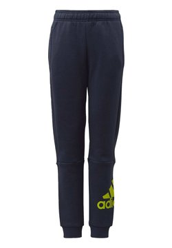 adidas Performance - MUST HAVES BADGE OF SPORT FLEECE JOGGERS - Jogginghose - blue