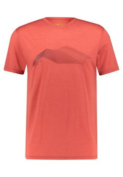 Meru - HERREN TUMBA - T-Shirt print - light red