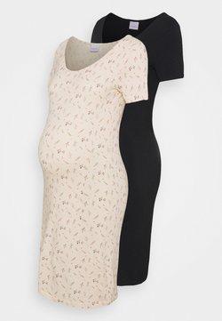 MAMALICIOUS - MLFIA MIX DRESS 2 PACK - Vestito di maglina - whitecap gray