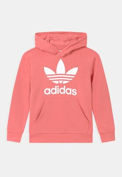 adidas Originals - TREFOIL HOODIE UNISEX - Bluza z kapturem - hazy rose/white