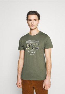 Jack & Jones - JORFASTER TEE CREW NECK - T-shirt print - dusty olive