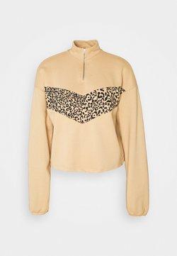 Noisy May - NMHALLY COLOR BLOCK - Sweatshirt - beige