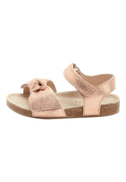 Next - PINK SUEDE BOW CORKBED SANDALS (YOUNGER) - Riemensandalette - gold