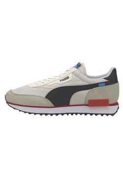 Puma - FUTURE RIDER PLAY ON UNISEX - Sneaker low - whisper white-puma white puma black