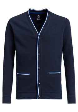 WE Fashion - MET RIBSTRUCTUUR - Gilet - navy blue