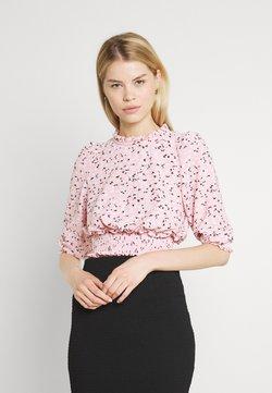 Miss Selfridge - FOCHETTE RUFFLE NECK - T-Shirt print - pink
