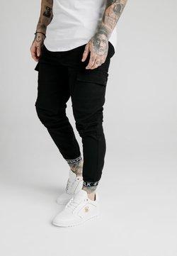 SIKSILK - CUFF PANTS - Cargo trousers - black