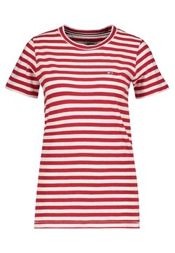 Tommy Jeans - TEXTURED STRIPE TEE - T-Shirt print - red