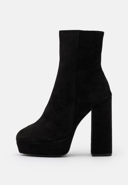 Even&Odd Wide Fit - LEATHER - High Heel Stiefelette - black