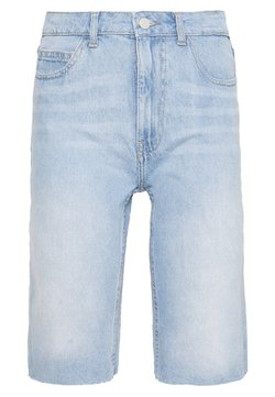 Noisy May Tall - NMBE BERMUDA  - Jeansshort - light blue denim