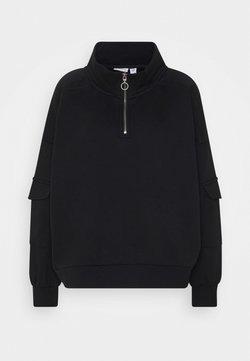 Noisy May - NMHELENE ZIP - Sweatshirt - black
