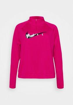 Nike Performance - RUN MIDLAYER PLUS - Camiseta de deporte - fireberry/black