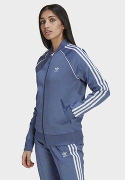 adidas Originals - PRIMEBLUE SST ORIGINALS JACKE - Zip-up hoodie - blue