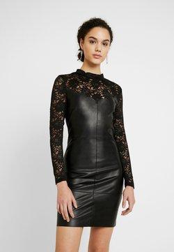 ONLY - ONLNANCY MIX DRESS - Freizeitkleid - black