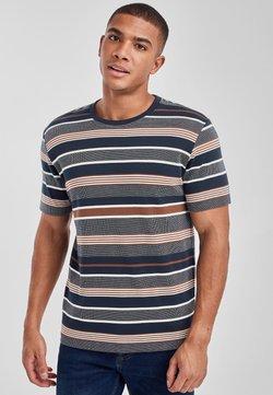 Next - REGULAR FIT  - T-Shirt print - mottled blue