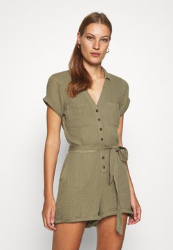 Abercrombie & Fitch - UTILITY ROMPER - Combinaison - olive