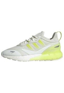 adidas Originals - ZX 2K BOOST 2.0 UNISEX - Zapatillas - white tint/semi solar slime/pulse yellow
