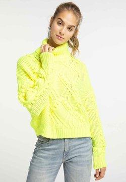 myMo - Strickpullover - neon yellow