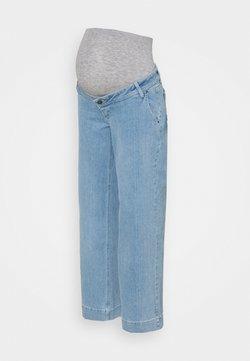 MAMALICIOUS - MLTRONA WIDE LEG BUMPBAND - Jeans straight leg - light blue denim