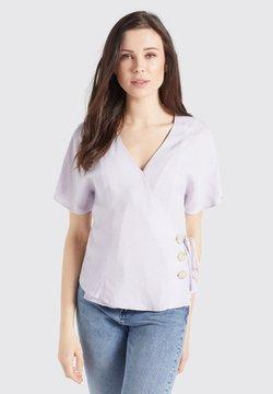 khujo - GIOVANNA - Bluse - flieder-weiß gepunktet