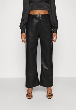 NA-KD - HIGH WAIST PANTS - Trousers - black