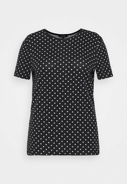 Lauren Ralph Lauren Woman - ALLI SHORT SLEEVE - T-Shirt print - black/white
