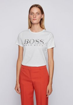 BOSS - C_ELOGO_ECOM - Print T-shirt - white
