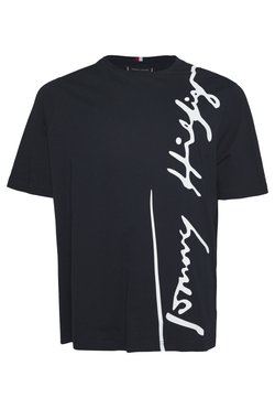 Tommy Hilfiger - COOL LARGE SIGNATURE TEE - T-shirt imprimé - blue