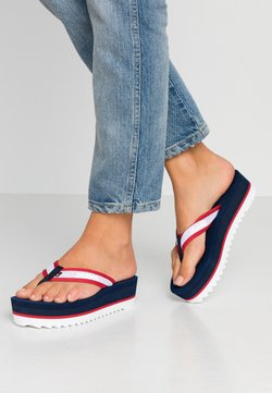 Tommy Jeans - RECYCLED MID BEACH SANDAL - Varvassandaalit - twilight navy
