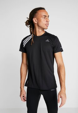 adidas Performance - OWN THE RUN TEE - Camiseta estampada - black/white