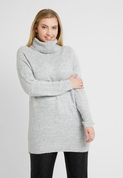 New Look Curves - ROLL NECK JUMPER - Neule - mid grey