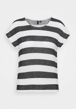 Vero Moda Petite - VMWIDE TOP - T-Shirt print - snow white/black
