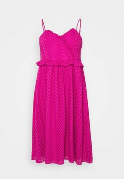 Selected Femme Curve - SLFKOSA STRAP DRESS - Freizeitkleid - rose violet