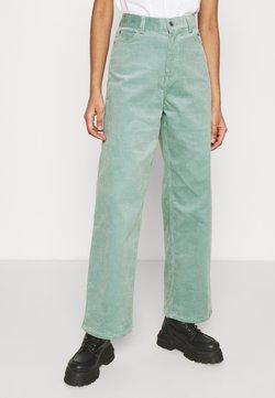 Weekday - LASHES TROUSERS - Pantalones - petrol