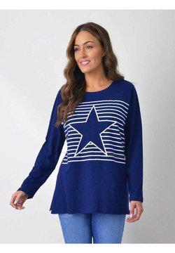 Live Unlimited London - STRIPE STAR TEE - T-Shirt print - dark blue