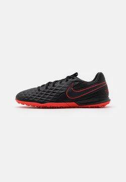 Nike Performance - TIEMPO LEGEND 8 PRO TF - Fotbollsskor universaldobbar - black/dark smoke grey/chile red