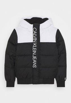 Calvin Klein Jeans - COLOUR BLOCK PUFFER JACKET - Vinterjacka - black
