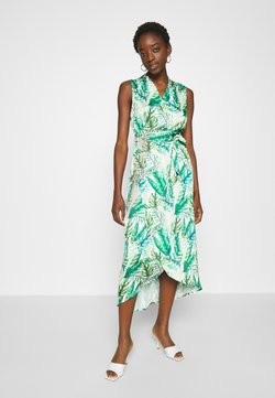 Never Fully Dressed - PALM WRAP MIDI DRESS - Korte jurk - green