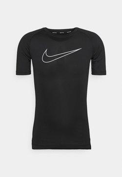 Nike Performance - TIGHT - T-Shirt print - black/white