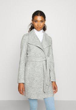 Vero Moda - VMBRUSHEDDORA JACKET - Classic coat - light grey melange