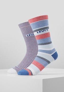 Levi's® - REGULAR CUT STRIPE STORY 2 PACK - Socken - white/blue/red