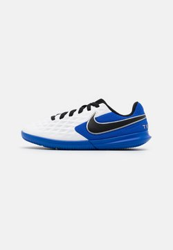 Nike Performance - TIEMPO JR LEGEND 8 CLUB IC UNISEX - Chaussures de foot en salle - white/black/hyper royal/metallic silver