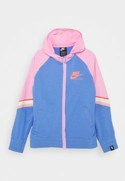 Nike Sportswear - HERITAGE HOODIE - Sweatjacke - royal pulse/pink/atomic pink