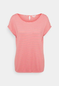 TOM TAILOR - STRUCTURE STRIPE - T-Shirt print - peach
