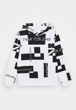 Calvin Klein Jeans - PATCH LOGO HOODIE - Hoodie - white