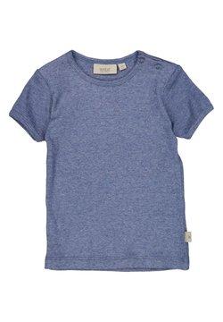 Wheat - T-shirt basic - blue melange