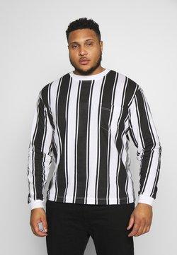 Another Influence - VERTICAL STRIPE PLUS - Langarmshirt - grey/white